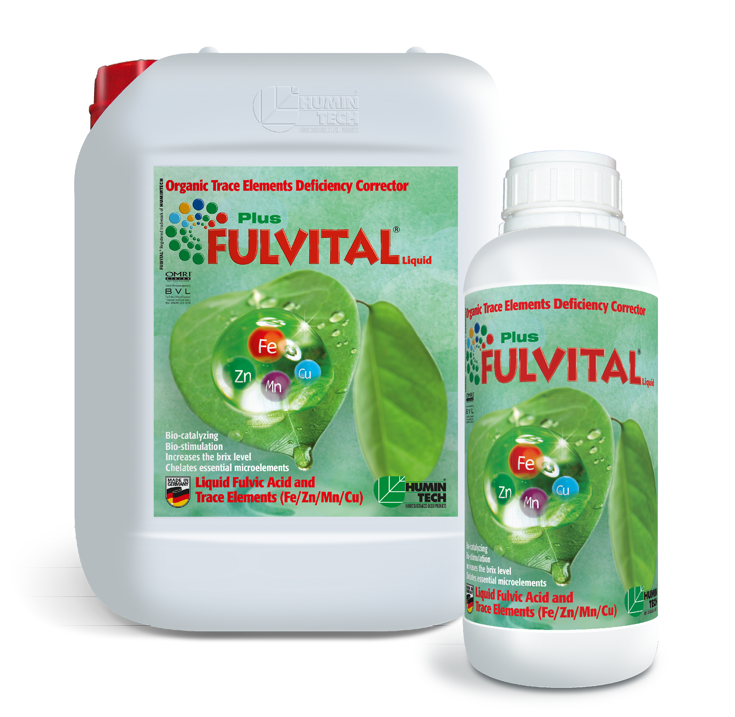 FULVITAL Plus Liquid Organic Micronutrient Deficiency Corrector Liquid Fulvates and Micronutrients (Fe/ Zn/ Mn/ Cu)