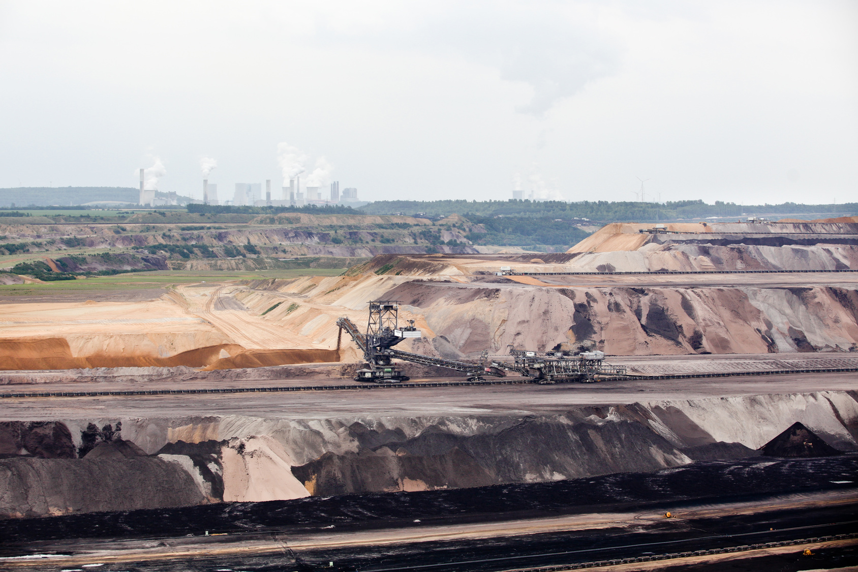 open pit mining in the lower rhine brown coal mining area