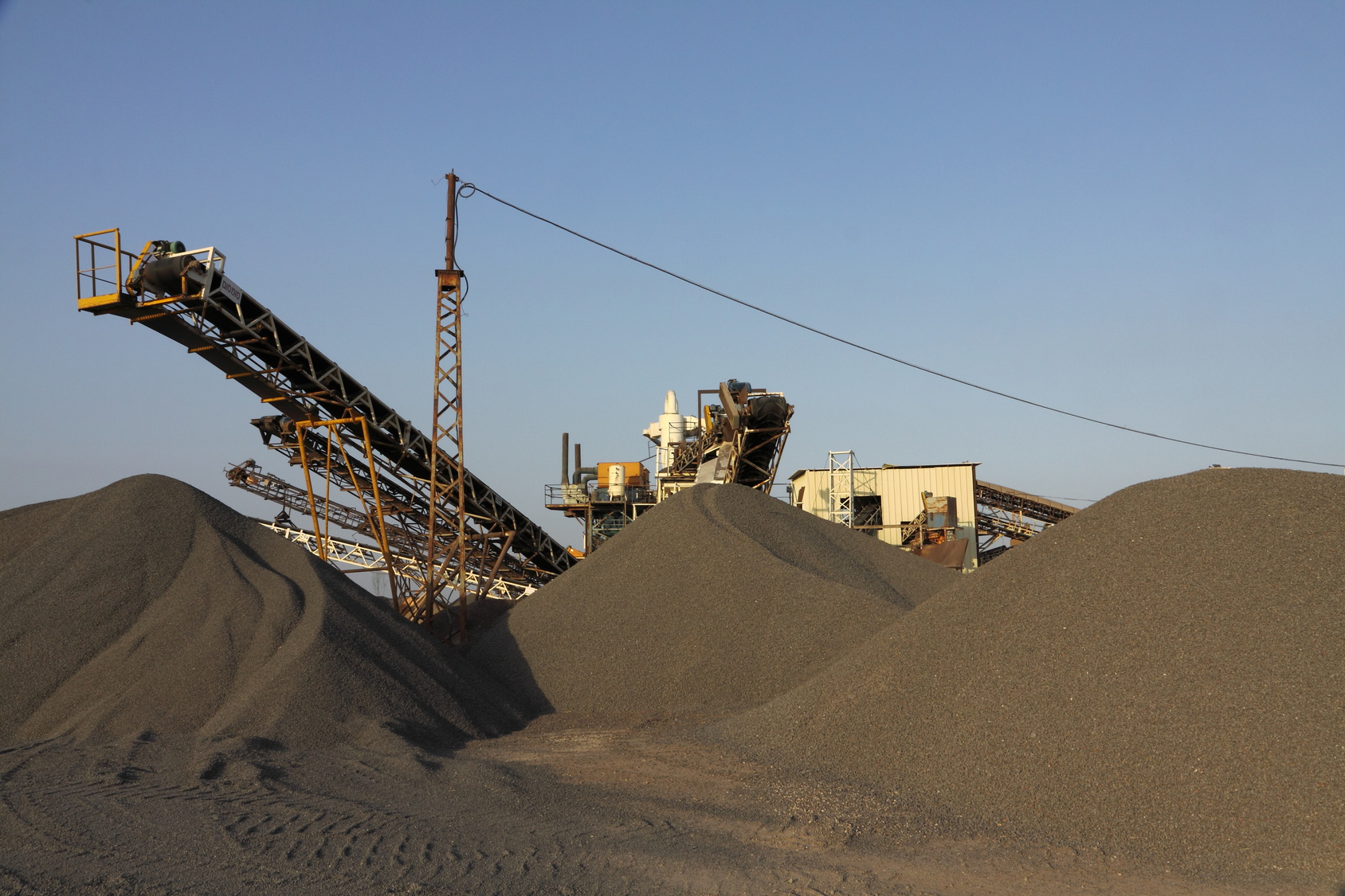conveyor belt in the brown coal mining area of the lower rhine
