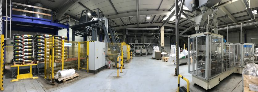 partial view of the humintech production hall interior in grevenbroich