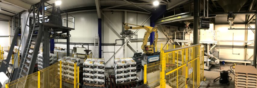 interior view of the storage of humintech products in the production site in grevenbroich