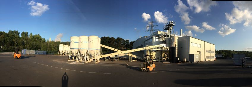 panoramic outdoor view of the terrain and the production site of the humintech company in grevenbroich