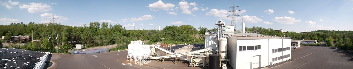 humintech infrastructure on the company site in an exterior panoramic view