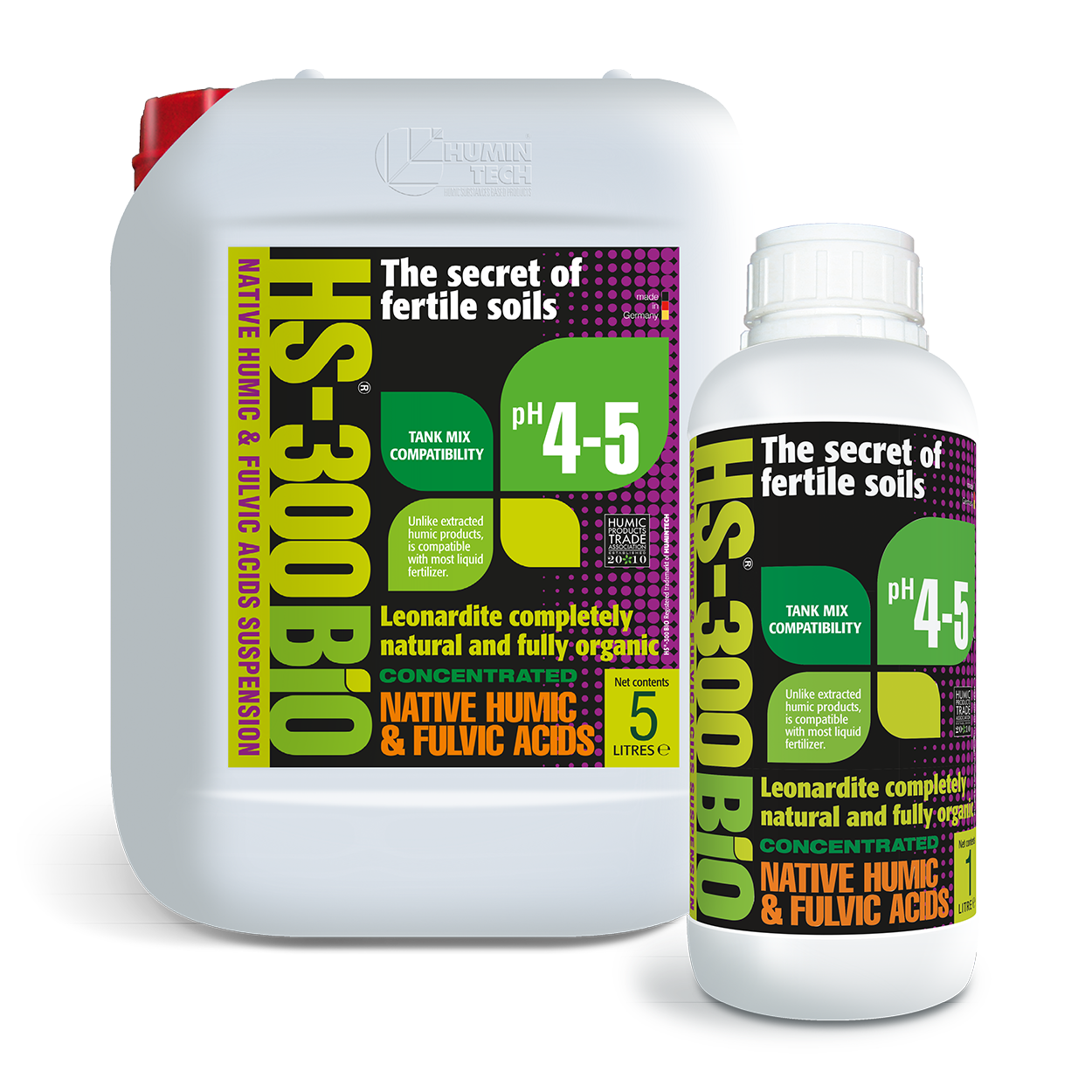 HS - 300BIO Native Humic Acid Suspension Organic Soil Conditioner
