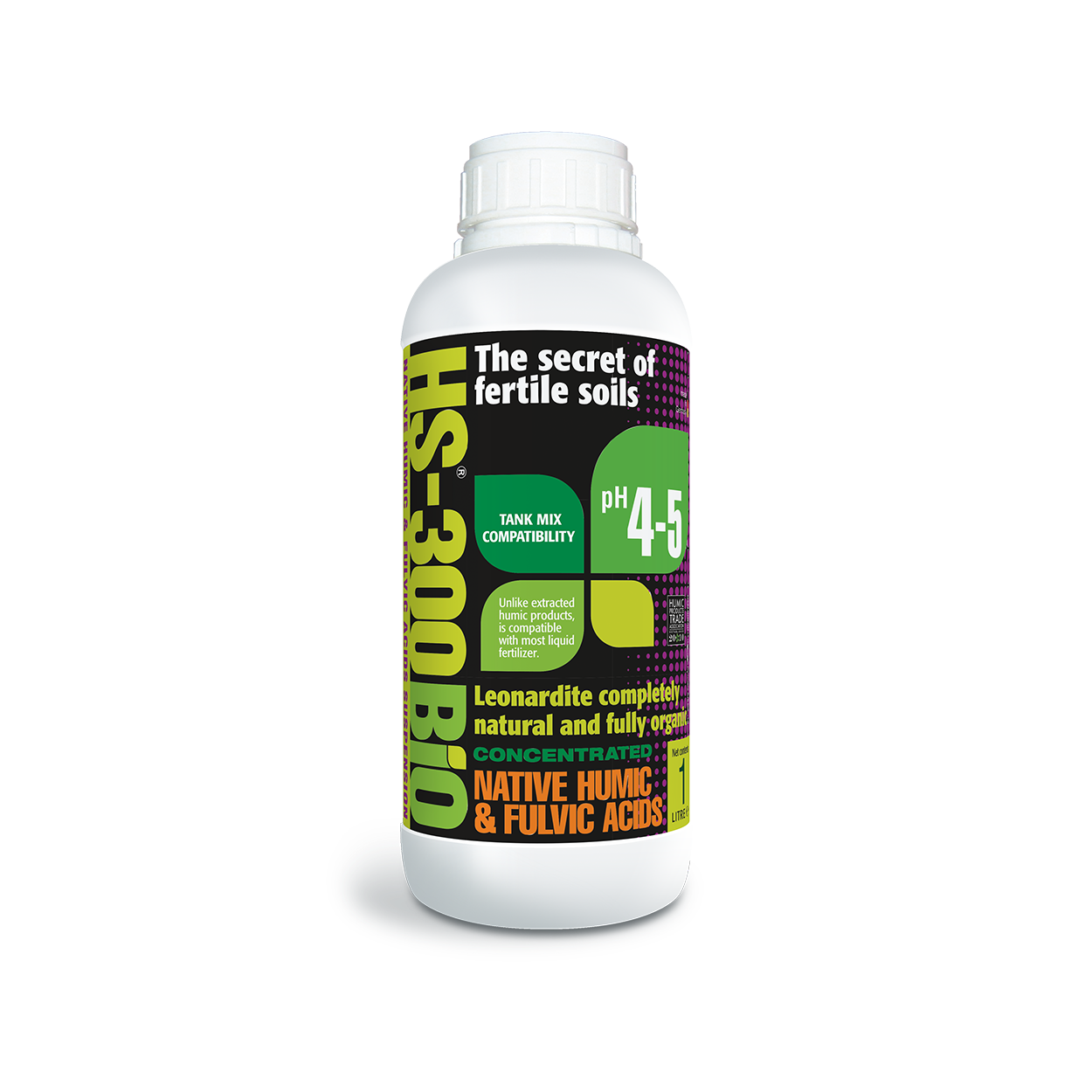 HS - 300BIO Native Humic Acid Suspension Organic Soil Conditioner 1 L