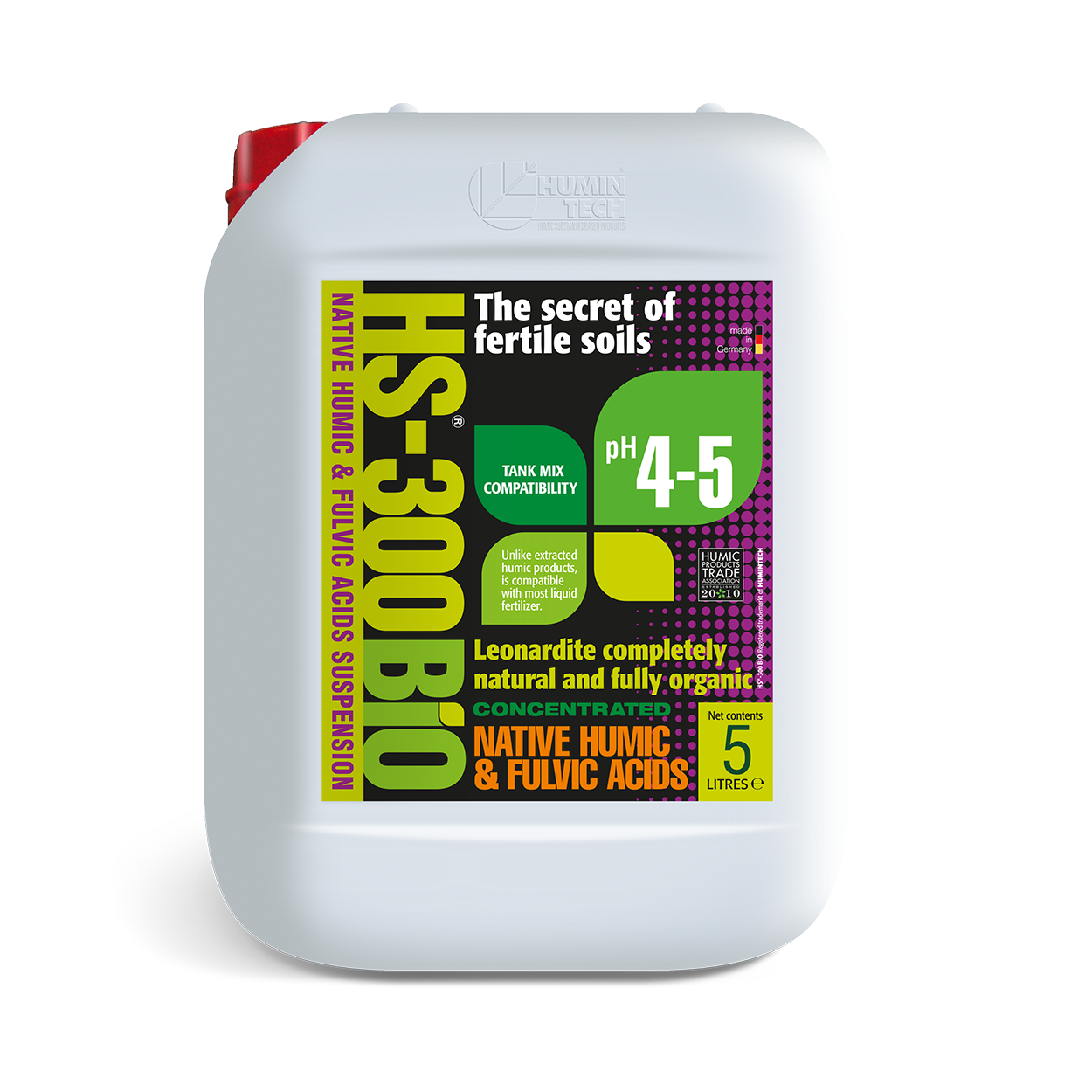 HS - 300BIO Native Humic Acid Suspension Organic Soil Conditioner 5 L