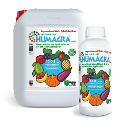 HUMAGRA NPK 10-0-3 + HA Liquid Organomineral Liquid Fertilizer NPK Macronutrients and Humic Acids 2