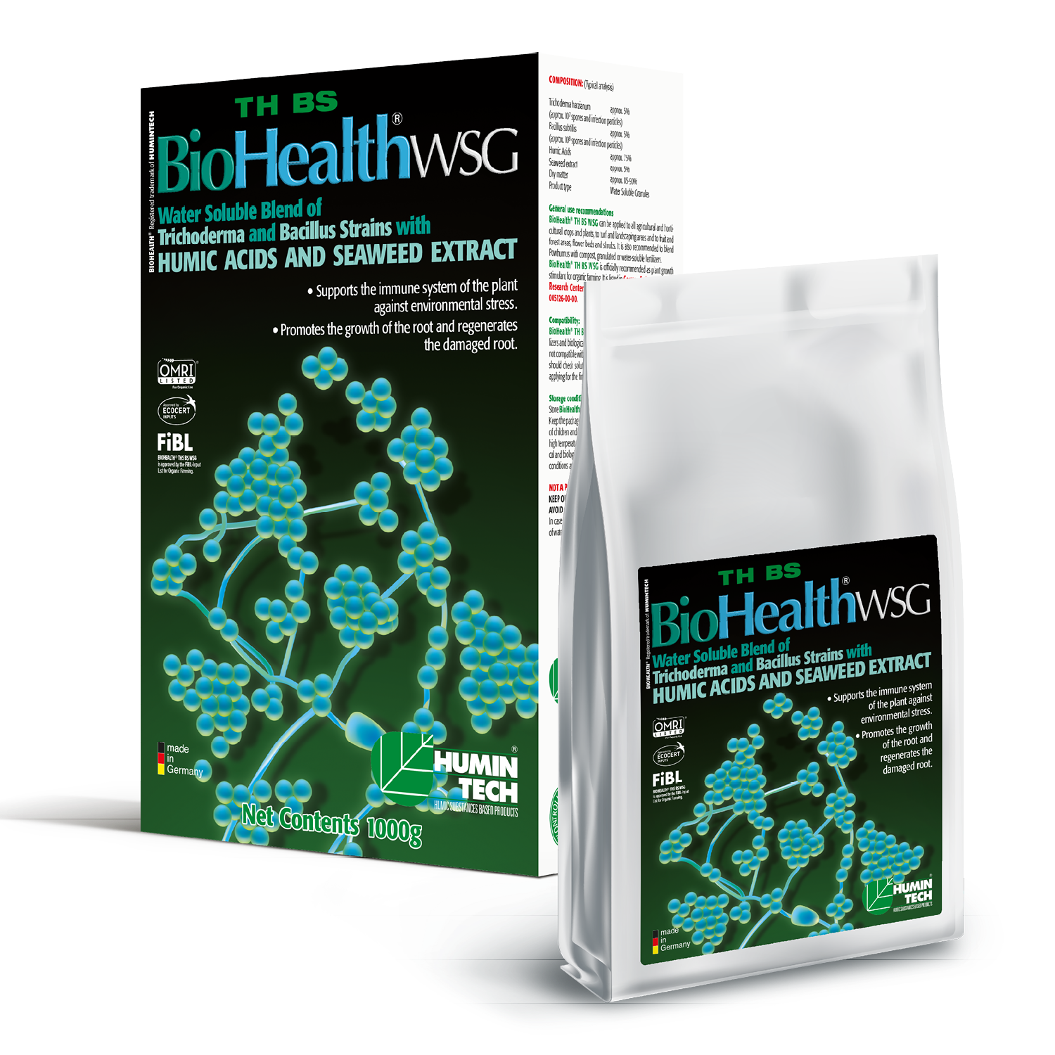 BioHealth TH BS WSG Water Soluble Blend of Trichoderma strains Humic Acids and Seaweed Extract