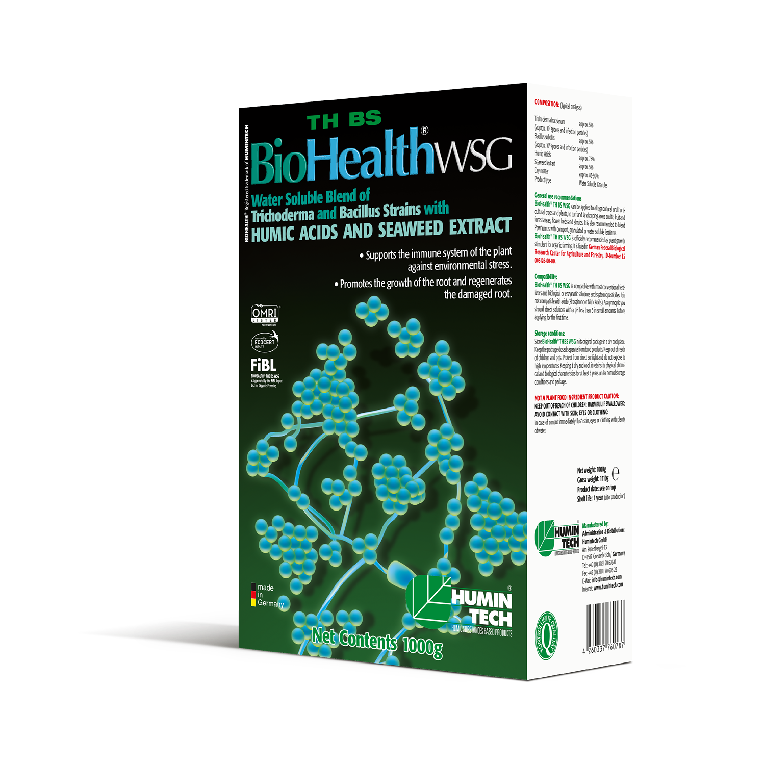 BioHealth TH BS WSG Water Soluble Blend of Trichoderma strains Humic Acids and Seaweed Extract box