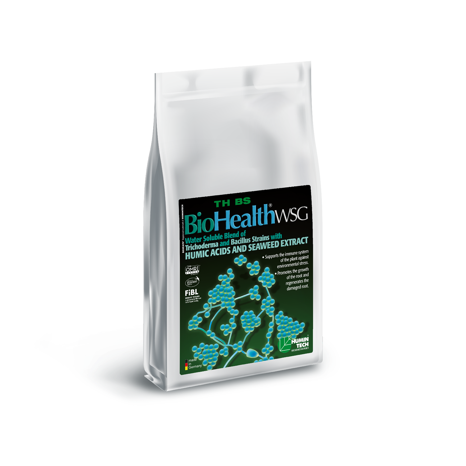 BioHealth TH BS WSG Water Soluble Blend of Trichoderma strains Humic Acids and Seaweed Extract bag