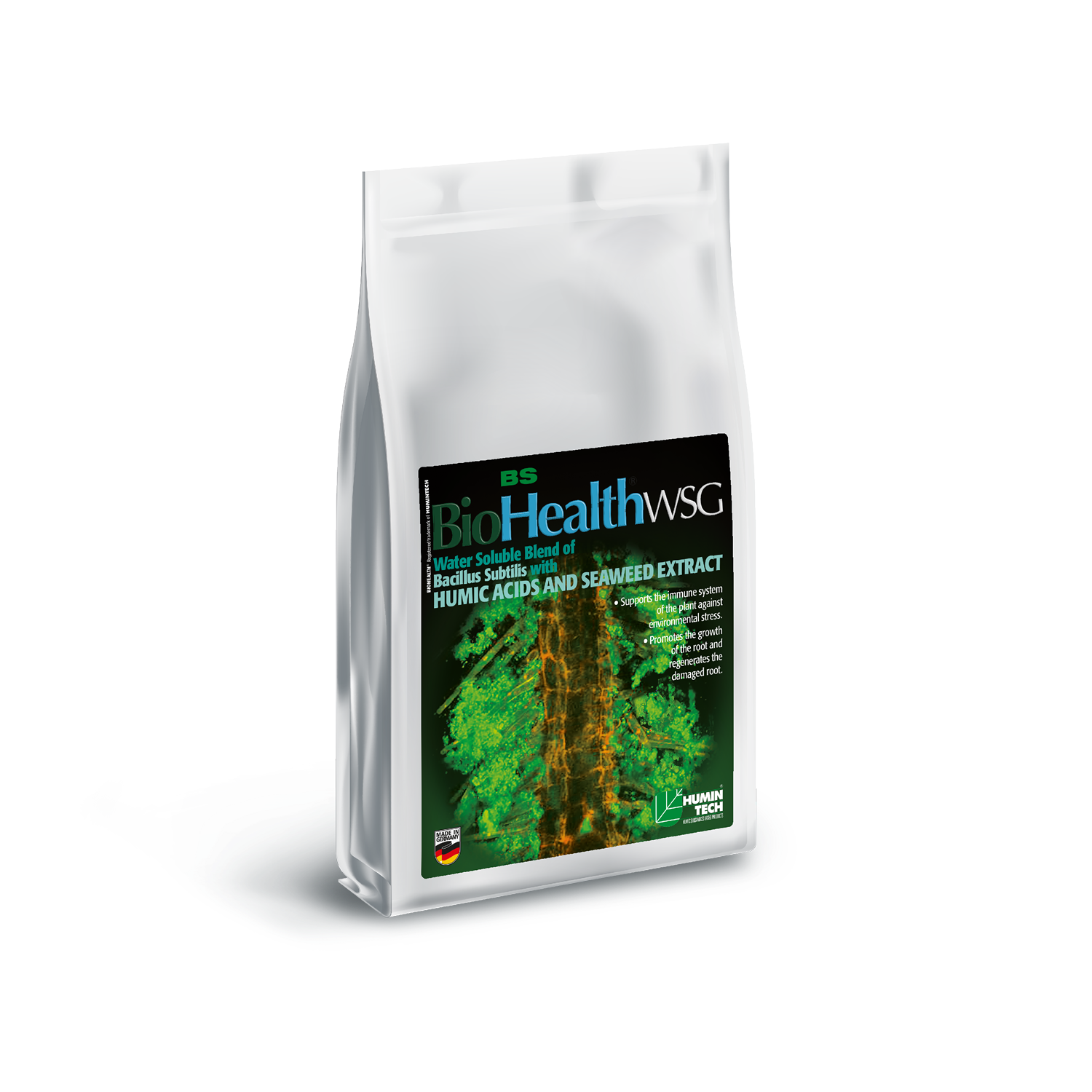 BioHealth BS WSG Water Soluble Blend of Bacillus Subtilis Seaweed Extract and Humic Acids bag