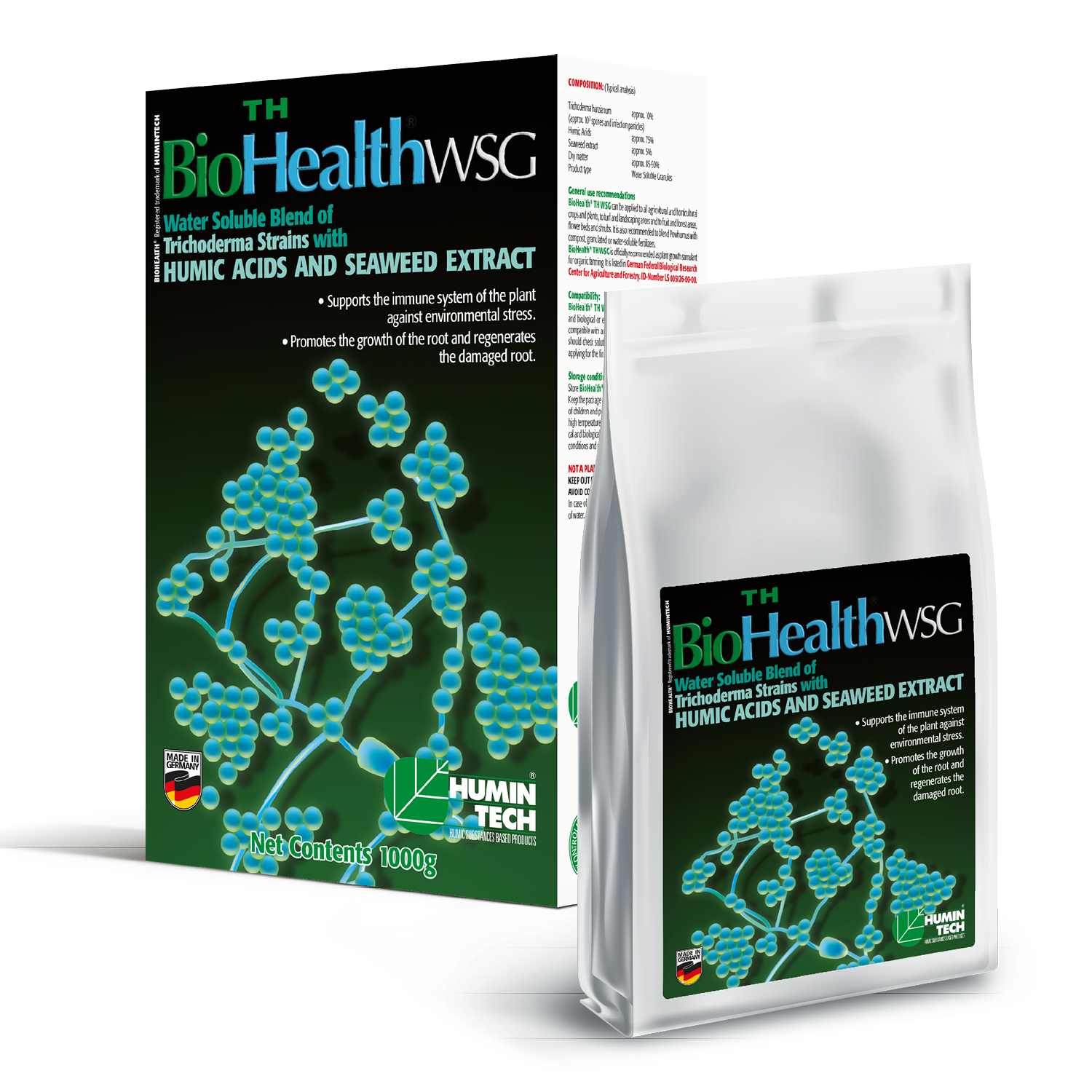 BioHealth TH WSG Water Soluble Blend of Trichoderma strains Humic Acids and Seaweed Extract