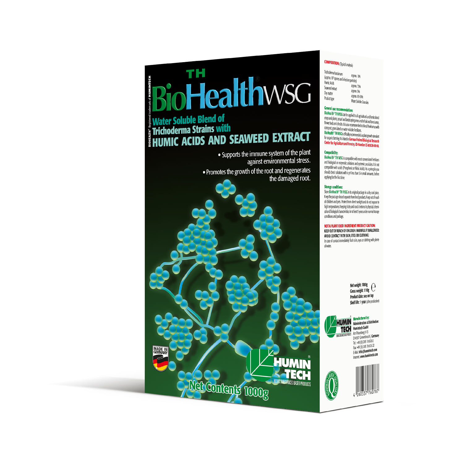 BioHealth TH WSG Water Soluble Blend of Trichoderma strains Humic Acids and Seaweed Extract box