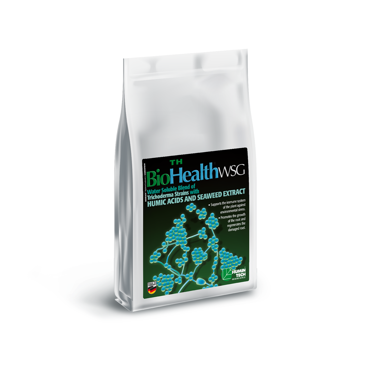 BioHealth TH WSG Water Soluble Blend of Trichoderma strains Humic Acids and Seaweed Extract bag