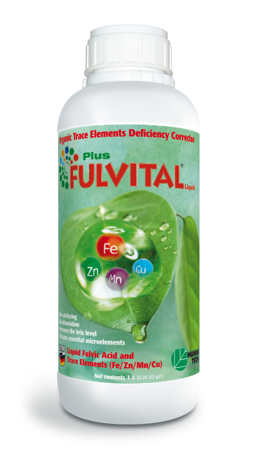 FULVITAL Plus Liquid Organic Micronutrient Deficiency Corrector Liquid Fulvates and Micronutrients (Fe/ Zn/ Mn/ Cu) bottle