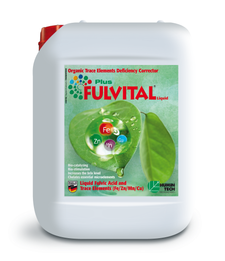 FULVITAL Plus Liquid Organic Micronutrient Deficiency Corrector Liquid Fulvates and Micronutrients (Fe/ Zn/ Mn/ Cu) canister