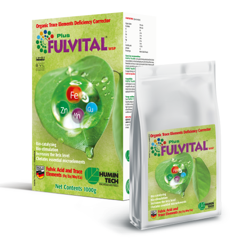 FULVITAL Plus WSP Organic Trace Elements Deficiency Corrector Fulvic acid and trace elements (Fe / Zn / Mn / Cu)