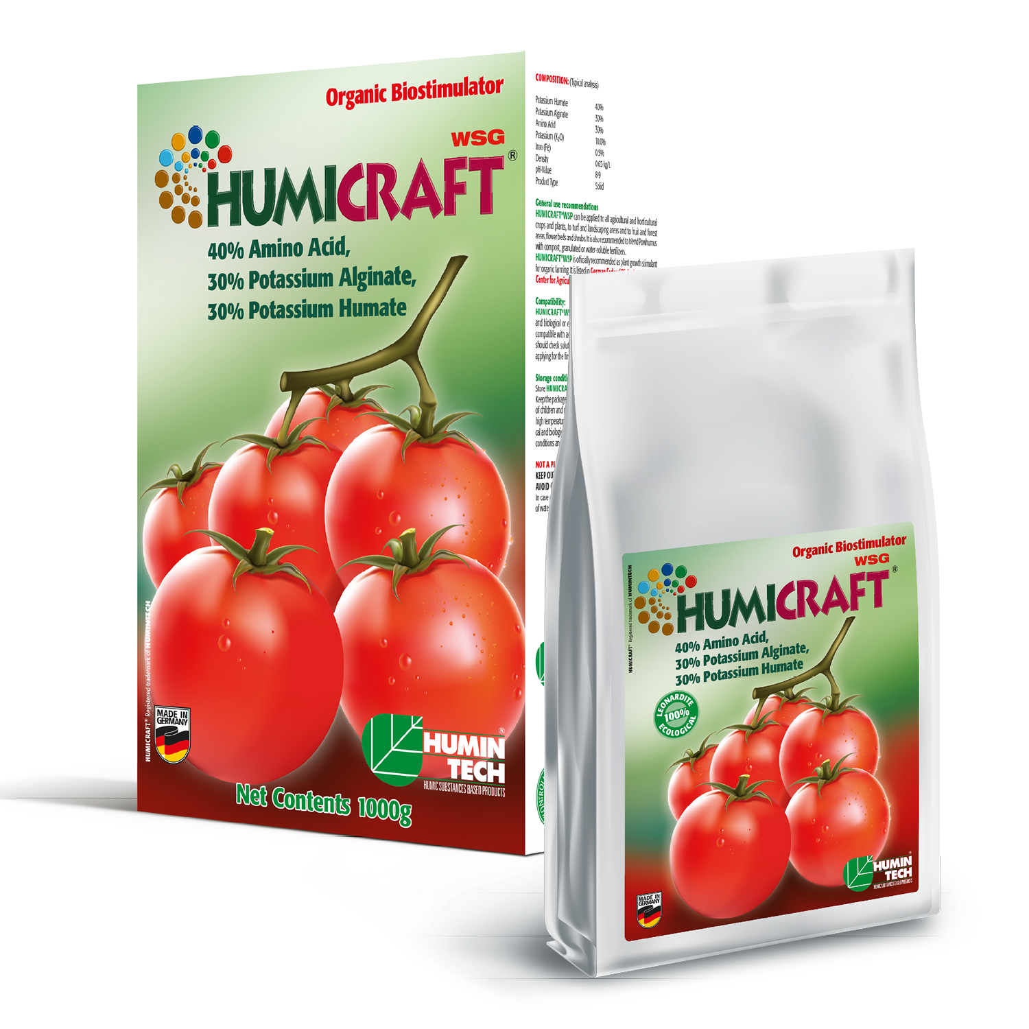 HUMICRAFT WSG Water soluble organic fertilizer