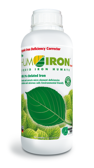 HUMIRON Fe Liquid Organic Iron Deficiency Corrector Liquid iron humate with 2% chelated iron bottle