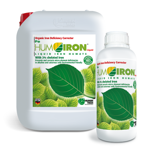 HUMIRON Fe Liquid Organic Iron Deficiency Corrector Liquid iron humate with 2% chelated iron