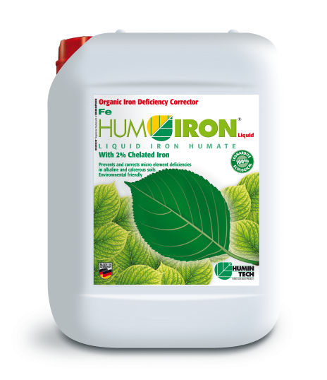 HUMIRON Fe Liquid Organic Iron Deficiency Corrector Liquid iron humate with 2% chelated iron canister