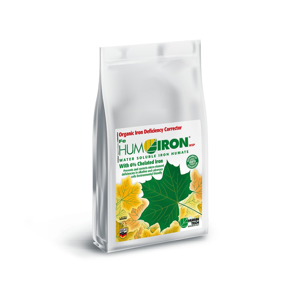 HUMIRON Fe WSP Organic Iron Deficiency Corrector Iron Humate with 6% Chelated and Complexed Iron bag