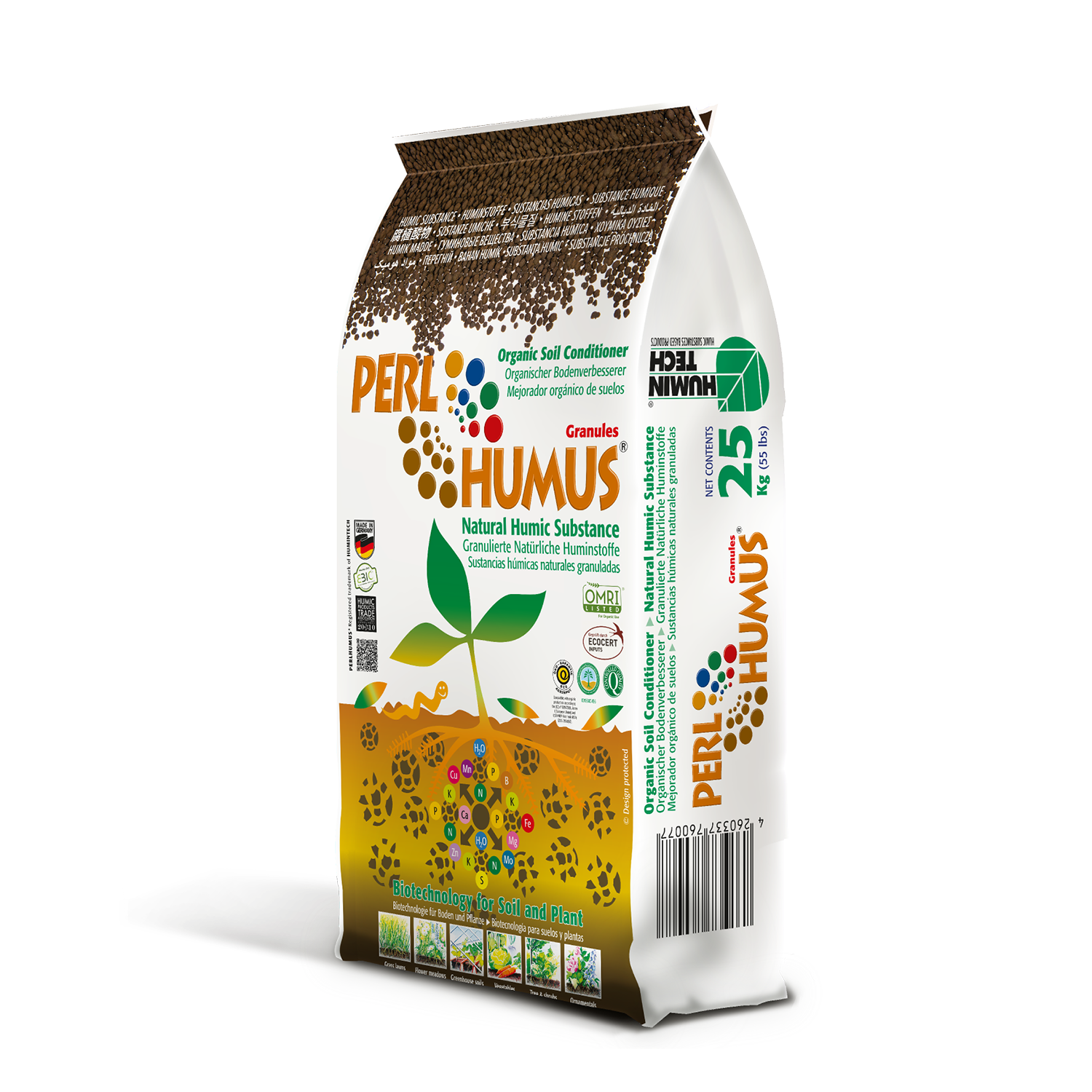 PERLHUMUS® Granules granulated high quality natural humic acid soil conditioner bag