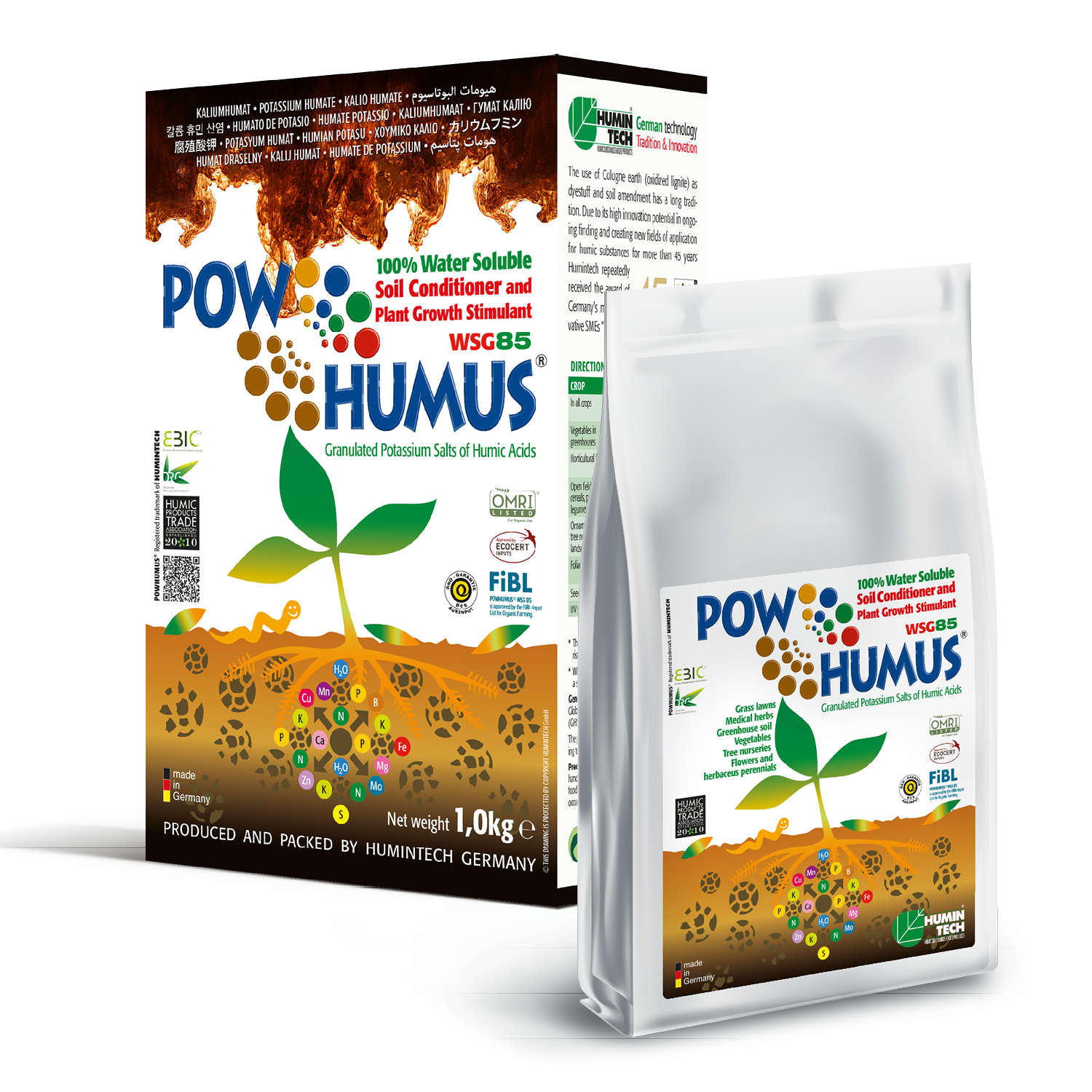POWHUMUS WSG 85 100% water soluble Organic Soil Conditioner